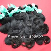 best top quality mixed length 2pcs/lot  vlrgin indain hair rerny hurnan body wave hair extension colors(1#1b)