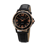 Fashion genuine leather wristwatches casual personality male quartz watch