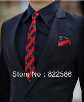 2013 Free shipping Men's clothing suits suit set slim work wear suit commercial white collar suit