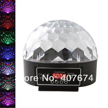 Free Shiping 6 Channel DMX512 Control Digital LED RGB Crystal Magic Ball Effect Light DMX Disco DJ Stage Lighting