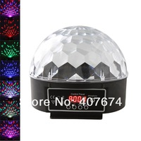 Free Shiping 6 Channel DMX512 Control Digital LED RGB Crystal Magic Ball Effect Light DMX Disco DJ Stage Lighting