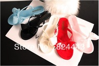 2014 New Arrival Women Summer Platform Sandals  Butterfly Slides Candy Jelly slippers Shoes Crystal Flip Flops 5 Colors