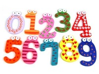 Funky Fun Colorful Magnetic Numbers Wooden Fridge Magnets Kids Educational toys