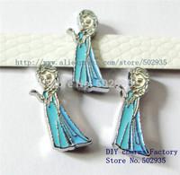 Wholesale 50pcs 8mm Frozen-Elsa  slide Charms DIY Accessories Fit DIY 8mm wristband /belts