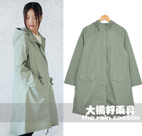 Free shipping 100%waterproof 100%breathable lightweight fashion green tea adult raincoat rain bicycle riding poncho trench coat
