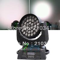 Free shipping 36x10W Zoom LED Moving Head Wash Light,RGBW Quad Colors Zoom Moving Head Light