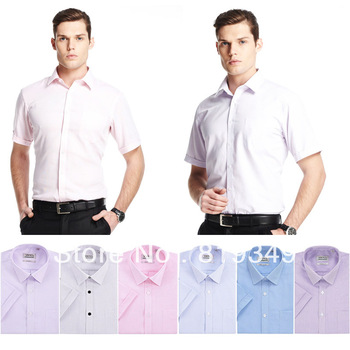 2013 NEW VANCL Men Fashion Lucas Short Sleeve Modal Shirt Breathable Casual Style Regular Fit Solid Multi Colors FREE SHIPPING