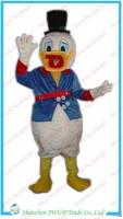 Newest Donald Duck Costume Adult Mascot Fur Fabric Costumes Fur Cartoon Costume Free Shipping