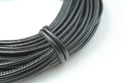 15 feet round leather cord, 5mm black necklace bracelet leather string(y-h), jewelry findings, jewelry findings, free shipping(China (Mainland))
