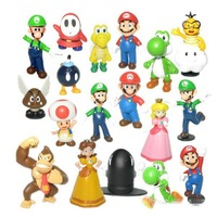 "Lot 18 pcs Super Mario Bros Brother 1.5~2.5"" Mario Action Figure Toys Doll New Free shipping &wholesale"