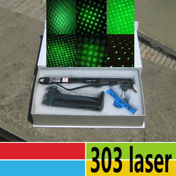 Free Ship 303 200mw Lazer Green SD Laser pointer presenter pen Burning Matches 5000m Zoomable Projector +Battery charger box
