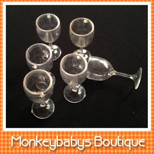 20PCS/LOT Plastic mini fake wine glass goblet cup Transparent PVC cup model plastic crafts imitation Cups DIY parts # DIY061(China (Mainland))