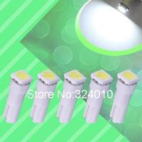 5pcs Pure White T5 1 SMD 5050 Dashboard Wedge 1 LED Car Light Bulb Lamp v5 12v