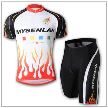 Free shipping High Quality Men's CoolMax short sleeve cycling jerseys wear clothes bicycle/bike/riding jerseys+bib pants shorts
