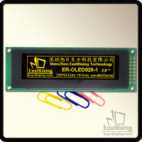"""Free Shipping,2pcs/lot,256x64,2.8"""" inch,Graphic OLED Display Module,Yellow on Black,Integrated with PCB,Simplify Your Design"""