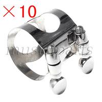 10Pcs Metal Clarinet Mouthpiece Ligature For Bb Clarinet
