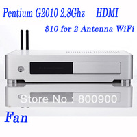 2G RAM 80G HDD or 16G SSD pc htpc with Intel Pentium Dual Core G2010 2.8Ghz 22nm Intel HD Graphics cheap htpc