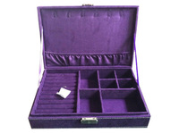 28*19.5*7cm purple jewelry display case storage box #thjs130514B for ring necklace bracelet earring