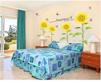 sunflower home decor wall art sticker kids love bedroom decoration crystal removable poster diy bathroom mirror vinyl wall paper