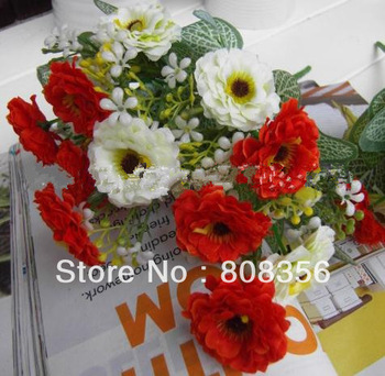 "Artificial Simulation Two-color Azalea Gladiolus 10pcs 32cm/12.6"" Length Floral Accessories Wedding Christmas Party Decorations"