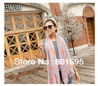 Free Fedex DHL shipping 185cm*100cm spring and autumn Voile cotton scarf  female autumn muffle shawl