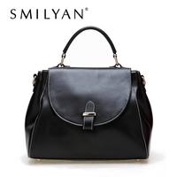 Free shipping! Smilyan elegant women genuine leather handbags 2014 new women totes fashion and vintage leather shoulder bags