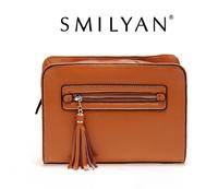 Free shipping! Smilyan nature leather fashion preppy style vintage tassel women handbags small women cross-body shoulder bags