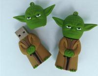 Wholesales 10pcs/lot star wars  cartoon yoda model usb  flash disk  pen drives free shipping