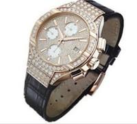 18K GOLD watches  diamonds Swiss  multi-functon mov't quartz men watch luxury watch for men