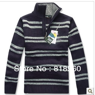 Genuine Free shipping Factory outlets The new Men Cardigan Plus fertilizer Big sweater Male models Sweater Coat(China (Mainland))