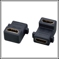 FREE SHIPPING! 5Pcs/Lot 90 Degree HDMI adapter with Ears , HDMI Female to HDMI Female Right Angle Narrow Adapter