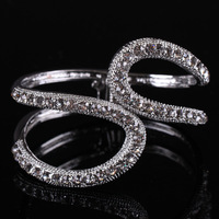 New Item Excellent Unique Design Inlay Rhinestone Bangles for Women Fashion Jewelry (MOQ is $15USD)