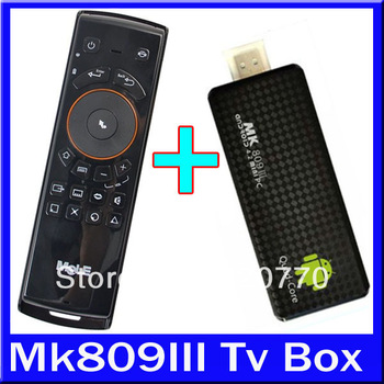 1Lot=2Pcs F10 Mele+2Pcs MK809III/MK809 III TV Box,Android 4.2 1080P 2GB Ram,8GB Rom Hdmi Out Dongle RK3188 Up To 1.8GHZ Mini Pc
