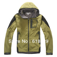 Free Shipping Spring Winter Waterproof Breathable Windproof Soft shell Outdoor Jacket for Men