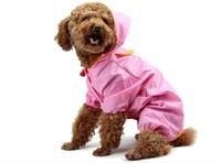 Large big dog nylon raincoat waterproof 4 legged rainjacket for large dog 5colours SZ  20 22 24 26