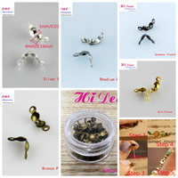 A Box/60s 3.5mm Metal Round Jewelry Rope Cord Wire Crimp End Beads Connectors Clasps Fasteners  DIY Findings/Accessories Kids/XK