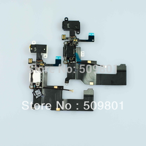 [Free Shipping 100Pcs/lot] USB Flex Cable For iPhone5 5G Charging Port Connector Audio Jack Dock High Quality for Replacement(China (Mainland))