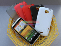Free Shipping High Quality Soft TPU Gel S Line Skin Back Cover Case for HTC One X S720e Matte TPU Soft Case, HCC-021