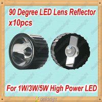 Freeshipping 10pcs 20mm 90 degrees LED Lens Reflector For 1W 3W 5W High Power LED  Lamp Light