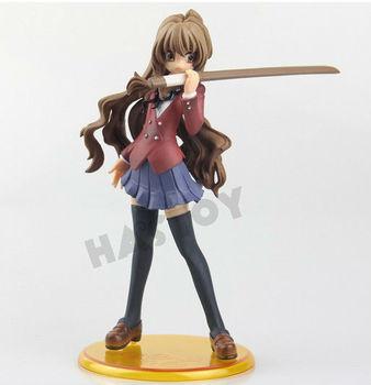 Free Shipping TIGER DRAGON PVC Figure 17cm Aisaka Taiga Doll Toy