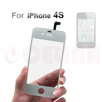 Free Shipping by DHL Fedex EMS UPS , 20PCS/LOT , white Digitizer Glass Touch Screen Panel Replacement For iPhone 4s