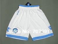 2013/14 New High Thailand Quality SSC Napoli Higuain Hamsik Home White/Blue Football Soccer Shorts Embroidery Logo
