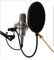 Promotion! Flexible Studio Microphone Mic Wind Screen Pop Filter Mask Shied Gooseneck double layer Wholesale