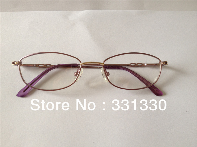 ON SALE !!! purple/brown full rim metal optical frame ,glass for female , eyeglasses(China (Mainland))