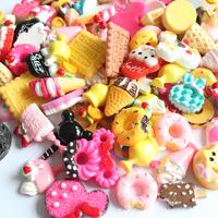 wholesale Free shipping DIY resin dessert mix style min 100pcs/lot