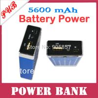 100pcs/lot Free shipping 5600mAh Dragon 5600mah universal portable power bank External Battery pack  with 3 colors retail box