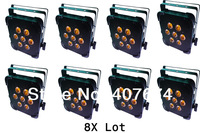 8X Lot Free Shipping NEW TINT 5-V7(RGBAW) SLIM/FLAT Par Profile-7Pc Leds *15W-RGBAW colors- Direct wireless DMX support