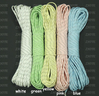Free  Shipping  2013  New 9 Strand 5colors Reflective+Glow In The Dark Paracord  Camping Equipment  Wholesale Paracord PRC-3005