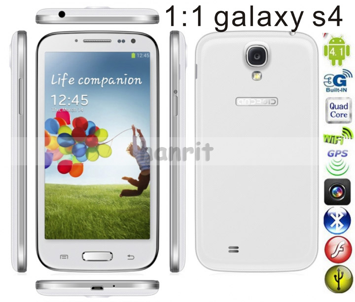 IN STOCK! mini s4 phone 4.8 inch galaxy S4 ! n9500 MTK6515 1Ghz 800*480 512MB 4GB support muti-language(China (Mainland))