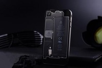 New Black Clear See Through Rear Glass Battery Back Cover Replacement For iPhone 4 4G free shipping wholesale